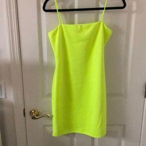 Windsor neon green mini dress